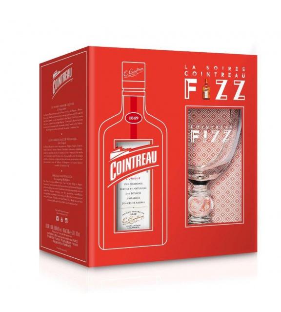Cointreau  0,7l 40% Fizz Darčekové balenie s Pohárikom
