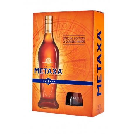 Metaxa 7* 0,7l 40% Darčekové Balenie s 2 Pohárikmi
