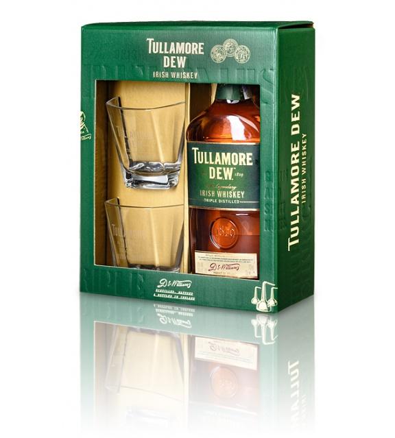 Tullamore DEW 0,7l 40% Darčekové Balenie s Dvomi Pohárikmi