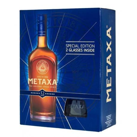 Metaxa 12* 0,7l 40% darčekové balenie s dvoma pohárikmi