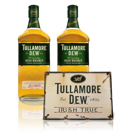 Akciový set 2xTullamore DEW 0,7l 40% s ceduľou TD zdarma