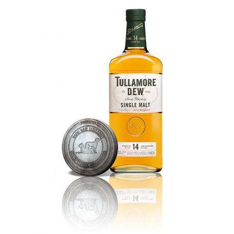 Tullamore DEW 14 YO Single Malt 0,7l 41,3% akciový set so zberateľskou mincou
