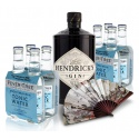 Hendrick´S Gin 0,7l 41,4% Akciové Balenie s Tonikmi a Vejárom