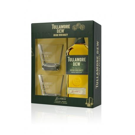 Tullamore D.E.W. 0,7l 40% darčekové balenie s dvomi pohárikmi