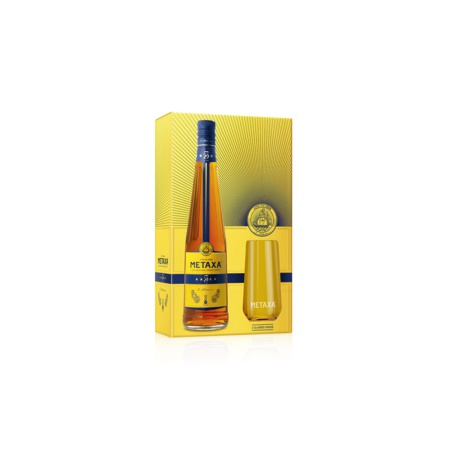 Metaxa 5* v krabičke s 2 pohárikmi 0,7l 38%