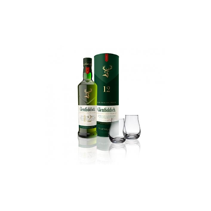 Glenfiddich 12YO 0,7l 40% nový design flaše s 2 pohárikmi zadarmo
