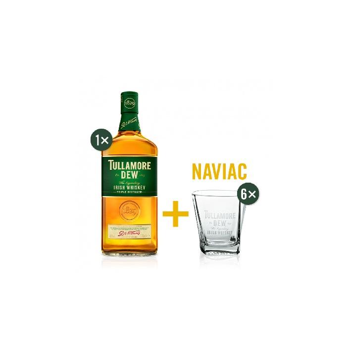 Tullamore D.E.W. 0,7l 40% s 6 pohárikmi