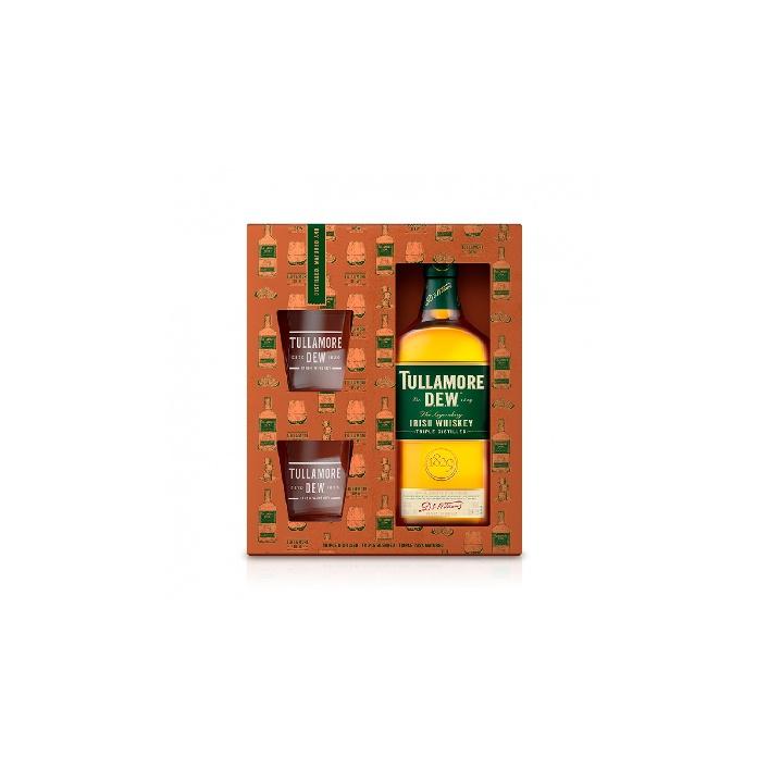 Tullamore D.E.W. 0,7l 40% darčekové balenie s 2 pohárikmi