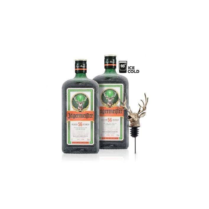 2x Jägermeister 0,7l 35%  s nalievatkom Original Jägermeister