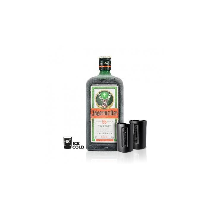 Jägermeister 0,7l 35% s dvoma pohárikmi naviac