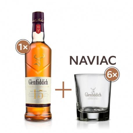 Glenfiddich 15 YO 0,7l 40% se 6 pohárikmi naviac