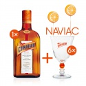 Cointreau 0,7l pomarančový likér 40% s 6 pohárikmi naviac