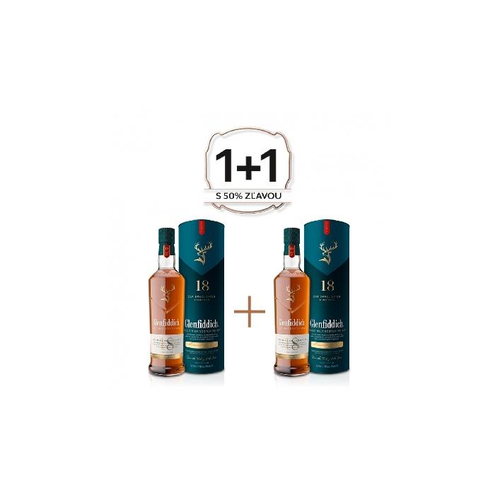 Glenfiddich 18 YO 0,7l 40% Akcia 1+1 s druhou fľašou z polovicu